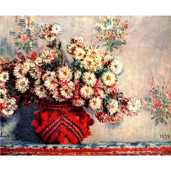 Claude Monet - Still Life with Chrysanthemums