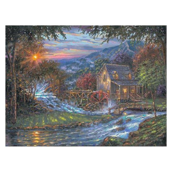 "Robert Finale, ""Change Of Seasons"" Hand Signed, Artist Embellished Limited Editi"