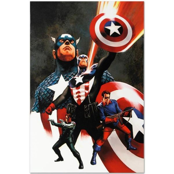 """Marvel Comics """"Captain America #600"""" Numbered Limited Edition Giclee on Canvas b"""