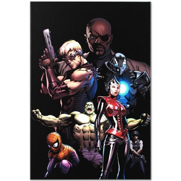 """Marvel Comics """"Ultimate Avengers #3"""" Numbered Limited Edition Giclee on Canvas b"""