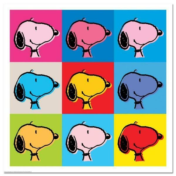 """Peanuts, """"Snoopy Goes Pop!"""" Hand Numbered Limited Edition Fine Art Print with Ce"""