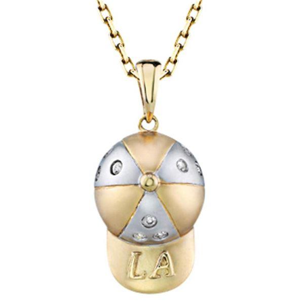 14k Yellow Gold 0.09CTW Diamond Pendant, (I1-I2/H-I)
