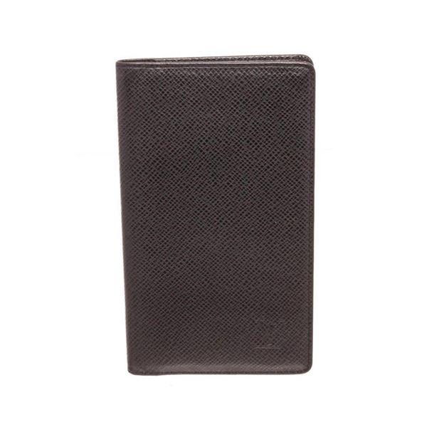 Louis Vuitton Brown Taiga Leather Checkbook Wallet