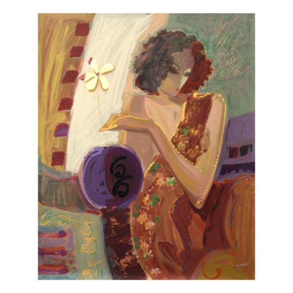 "Sabzi, ""Exotic Flower"" Limited Edition Hand Embellished Serigraph on Canvas, Num"
