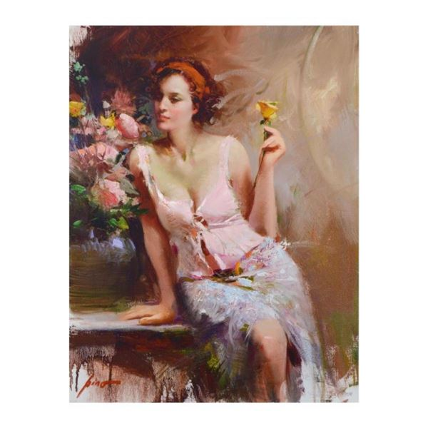 """Pino (1939-2010), """"Sweet Scent"""" Limited Edition Artist-Embellished Giclee on Can"""