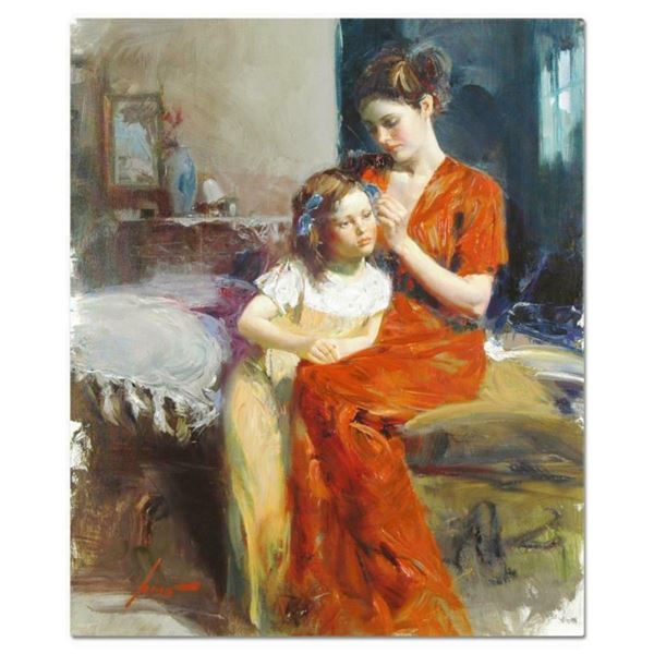 """Pino (1939-2010), """"Last Touch"""" Artist Embellished Limited Edition on Canvas, CP"""