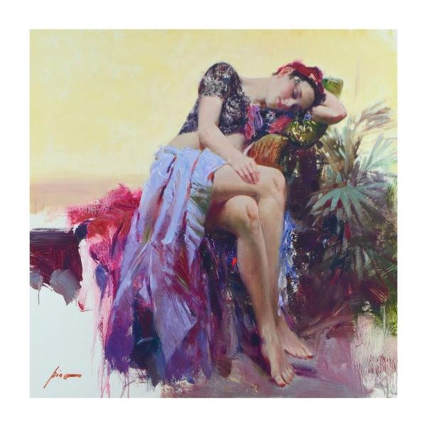 """Pino (1939-2010), """"Siesta"""" Limited Edition Artist-Embellished Giclee on Canvas."""
