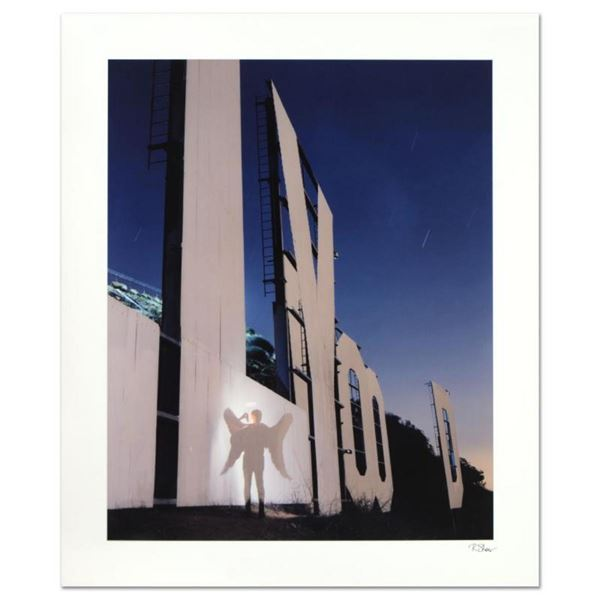 """Robert Sheer, """"The Agent Angel at the Hollywood Sign"""" Limited Edition Single Exp"""
