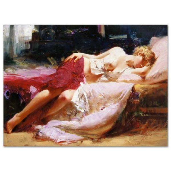 """Pino (1939-2010), """"Dreaming in Color"""" Artist Embellished Limited Edition on Canv"""