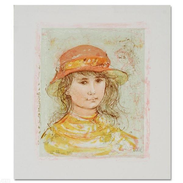 """""""Pamela"""" Limited Edition Lithograph by Edna Hibel (1917-2014), Numbered and Hand"""