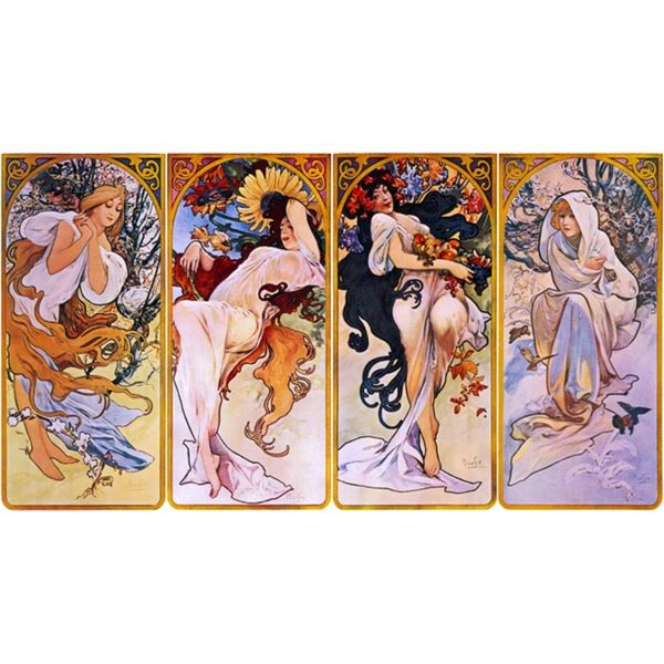 Alphonse Mucha - Four Seasons
