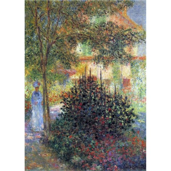 Claude Monet - Camille in the Garden of the House in Argenteuil