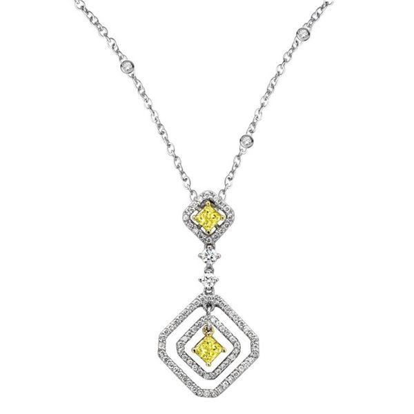 18k Two Tone Gold 1.02CTW Diamond Pendant, (VS1-VS2/G-H)
