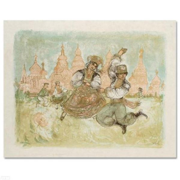 """""""Russian Dancers"""" Limited Edition Lithograph by Edna Hibel (1917-2014), Numbered"""