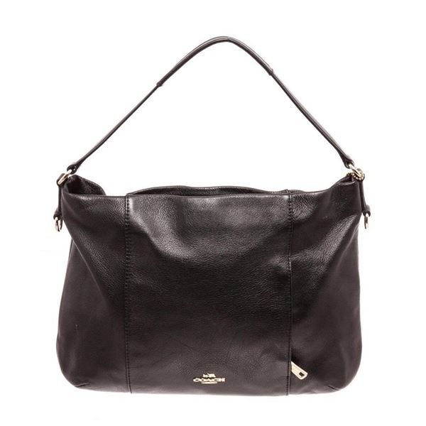 Coach Black Isabelle Pebble Leather Cross Body Bags