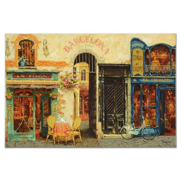 "Viktor Shvaiko, ""La Fonda"" Hand Embellished Limited Edition on Canvas, Numbered"