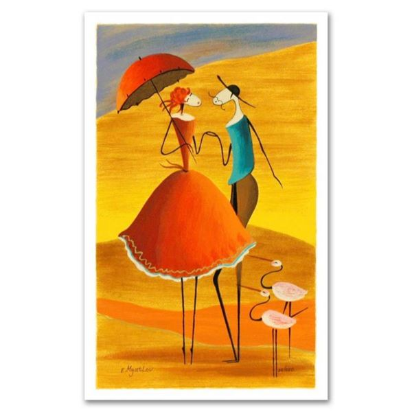 """Ester Myatlov, """"Serenade"""" Limited Edition Serigraph, Numbered and Hand Signed wi"""