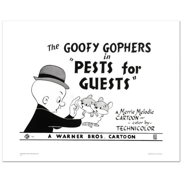 """""""Goofy Gophers"""" Limited Edition Giclee from Warner Bros., Numbered with Hologram"""