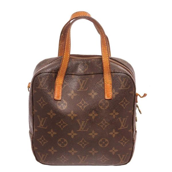 Louis Vuitton Brown Monogram Spontini Satchel Bag