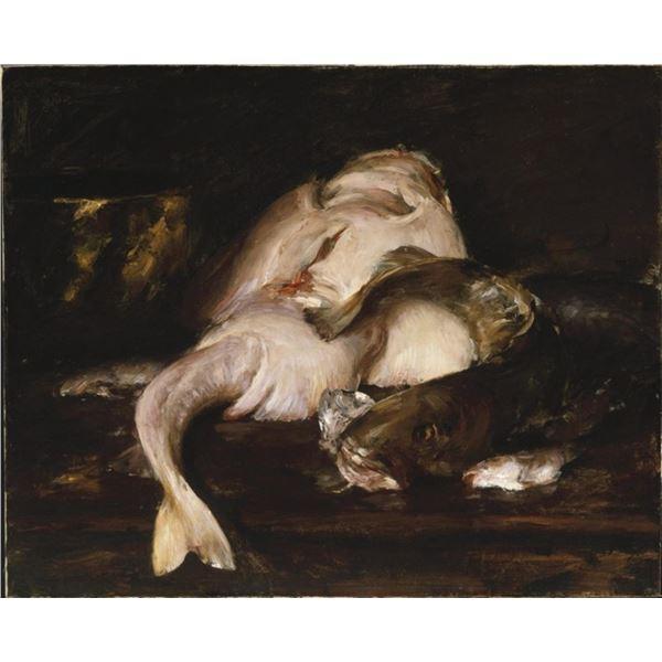 William Merritt Chase - Still Life with Fish