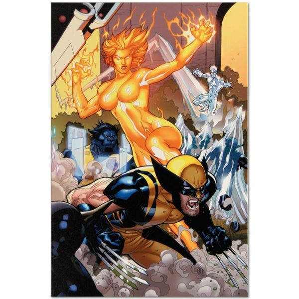 """Marvel Comics """"Secret Invasion: X-Men #4"""" Numbered Limited Edition Giclee on Can"""
