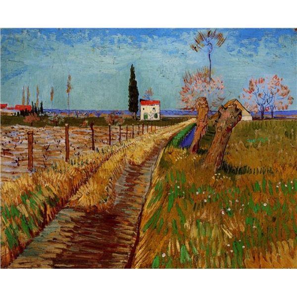 Van Gogh - Path Through A Field With Willows