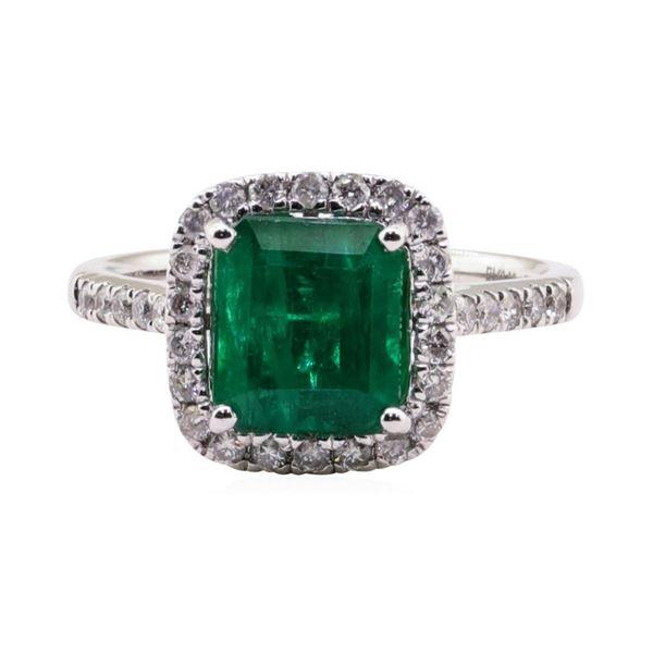 2.38 ctw Emerald and Diamond Ring - Platinum
