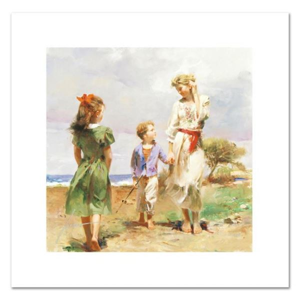 """Pino (1931-2010), """"Seaside Retreat"""" Limited Edition on Canvas, Numbered and Hand"""