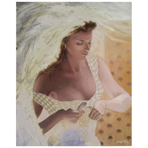 "Jean-Paul Loppo Martinez, ""La Mariee"" Limited Edition Textured Giclee on Board,"