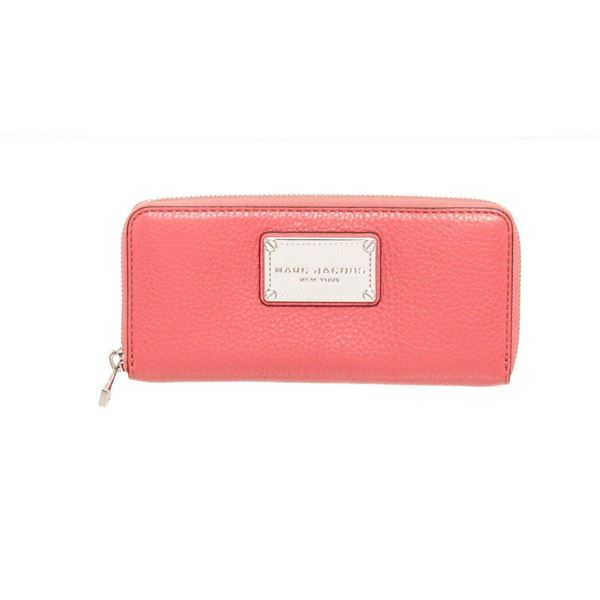 Marc Jacobs Pink Leather Classic Q Zippy Wallet