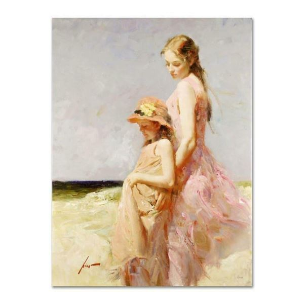 """Pino (1939-2010), """"Summer's Day"""" Artist Embellished Limited Edition on Canvas (3"""