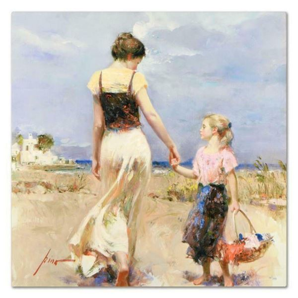 """Pino (1939-2010), """"Lets Go Home"""" Artist Embellished Limited Edition on Canvas, N"""