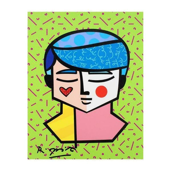 """Romero Britto """"Grant"""" Hand Signed Limited Edition Giclee on Canvas; Authenticate"""