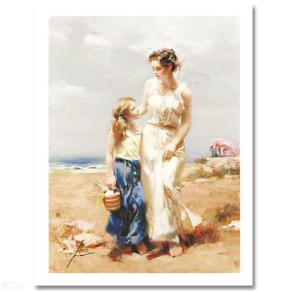 """Pino (1939-2010) """"By The Sea"""" Limited Edition Giclee. Numbered and Hand Signed;"""