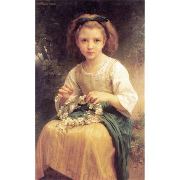William Bouguereau - Child Braiding A Crown