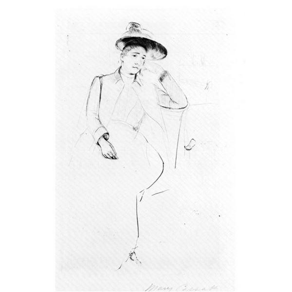 Mary Cassatt - Celeste Sitting On A Bank In The Park