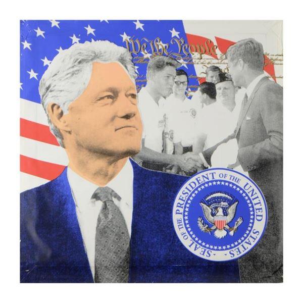 Bill Clinton, We the People by Steve Kaufman (1960-2010)