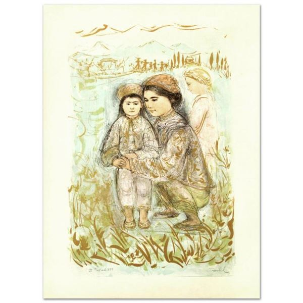 """""""Mrs. Hsu"""" Limited Edition Lithograph by Edna Hibel (1917-2014), Numbered and Ha"""
