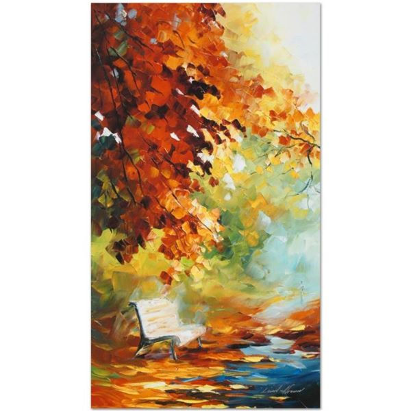 """Leonid Afremov (1955-2019) """"Respite Spot"""" Limited Edition Giclee on Canvas, Numb"""