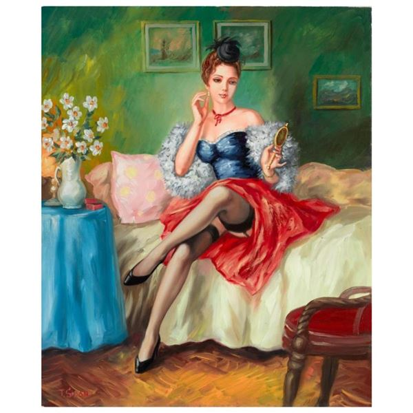 """Taras Sidan, """"Before The Date"""" Hand Signed Limited Edition Giclee on Canvas with"""