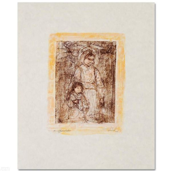 """""""Michelle and Nana"""" Limited Edition Lithograph by Edna Hibel (1917-2014), Number"""
