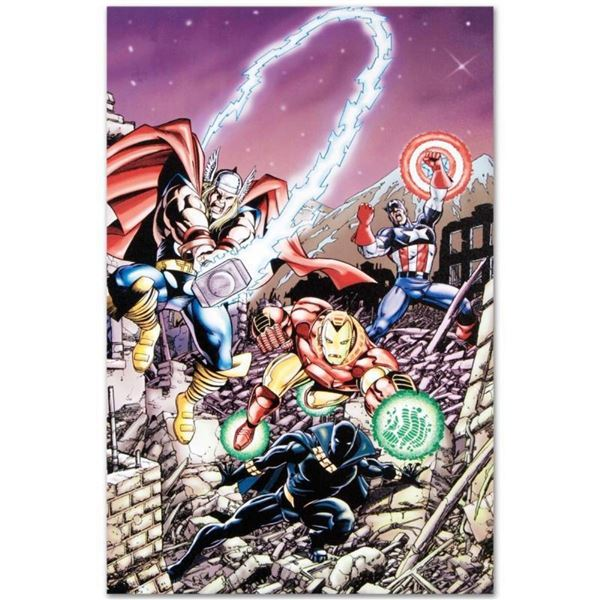"""Marvel Comics """"Avengers #21"""" Numbered Limited Edition Giclee on Canvas by George"""