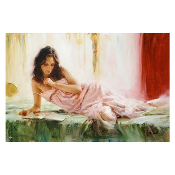 """Vidan, """"In Repose"""" Limited Edition on Canvas, Numbered and Hand Signed with Cert"""