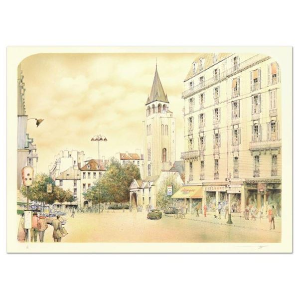 """Rolf Rafflewski, """"Paris"""" Limited Edition Lithograph, Numbered and Hand Signed."""