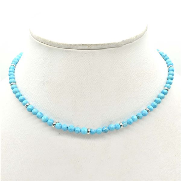 SILVER CERTIFIED TURQUOISE(18.9CT) RHODIUM PLATED