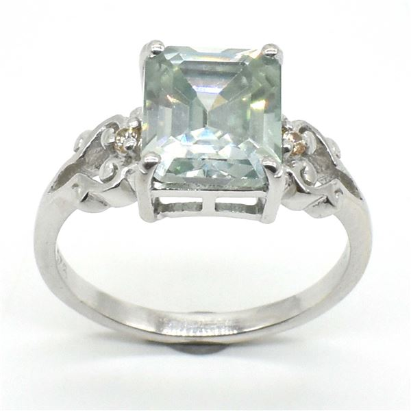 SILVER MOISSANITE(2.5CT) RHODIUM PLATED RING
