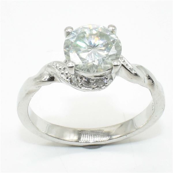 SILVER CERTIFIED MOISSANITE (ROUND 7.5 & 1.5 MM)(1