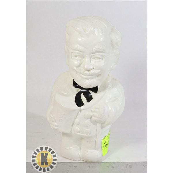 COLONEL SANDERS KFC PIGGY BANK WHITE