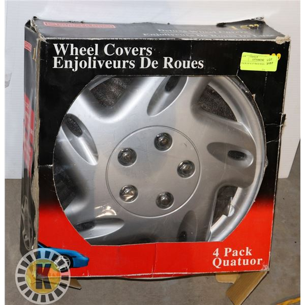 """PACK OF 4 15"""" INCH WHEEL COVERS"""