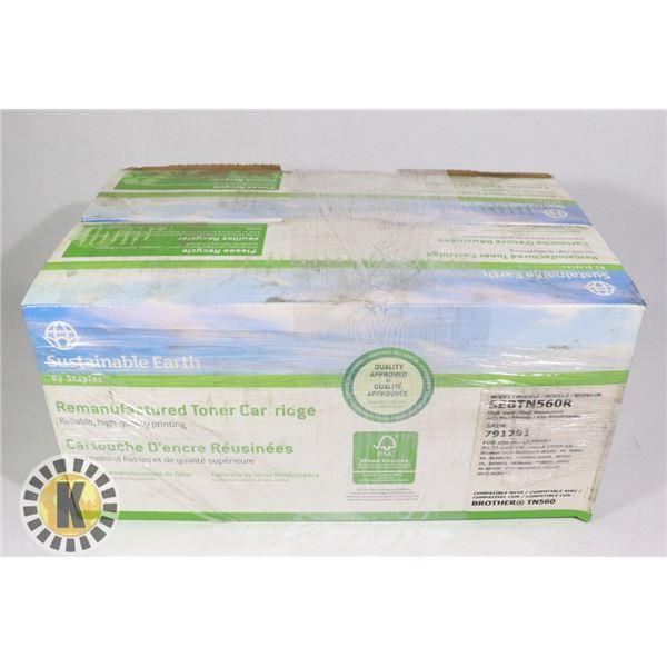 LOT OF 2 SUSTAINABLE EARTH BROTHER TN560 TONER